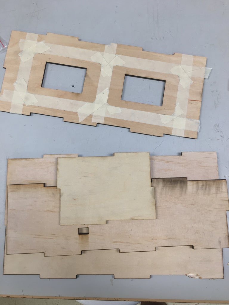 Cut and Paint Luan Plywood Box