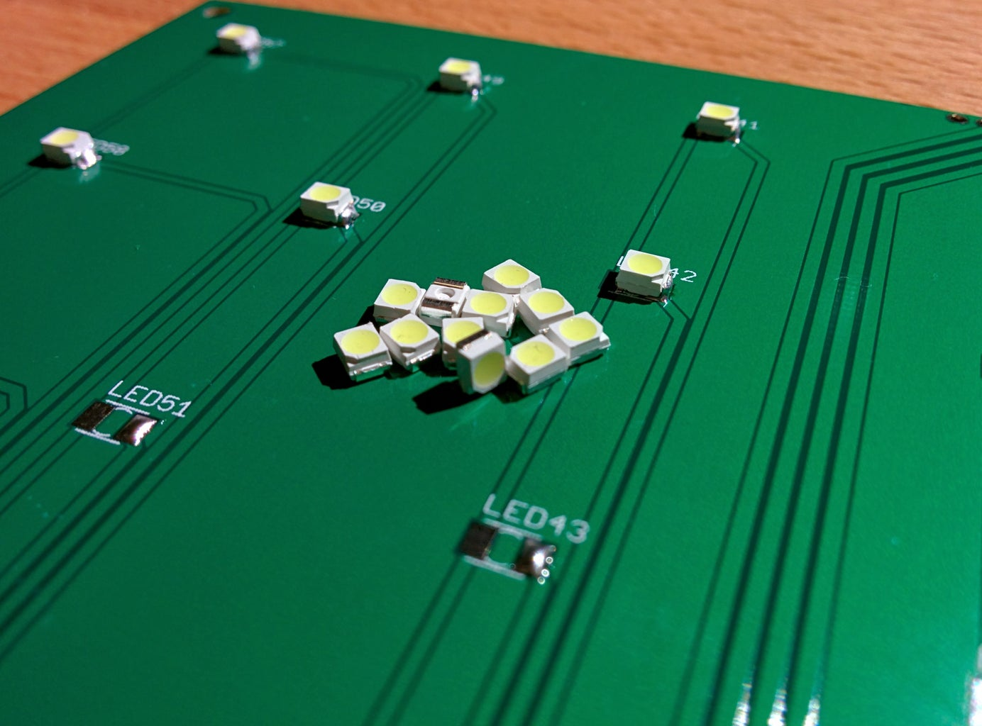 Soldering the Four LED Boards
