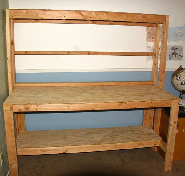 Simple Wooden Workbench