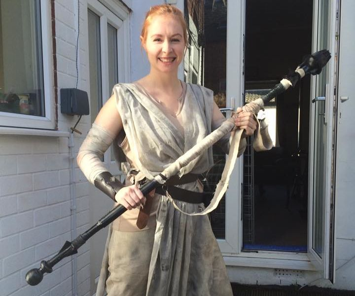 Star Wars Rey blaster and outfit