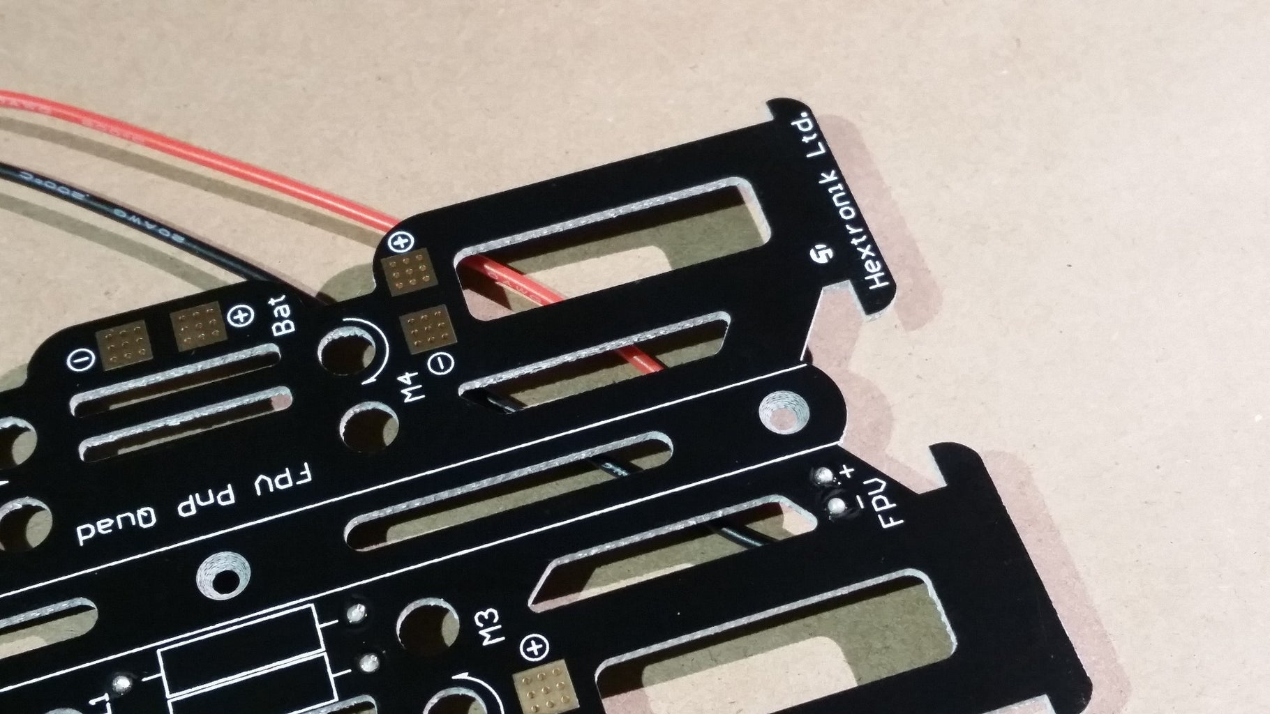 Solder FPV Power Cable to the Power Distribution Board