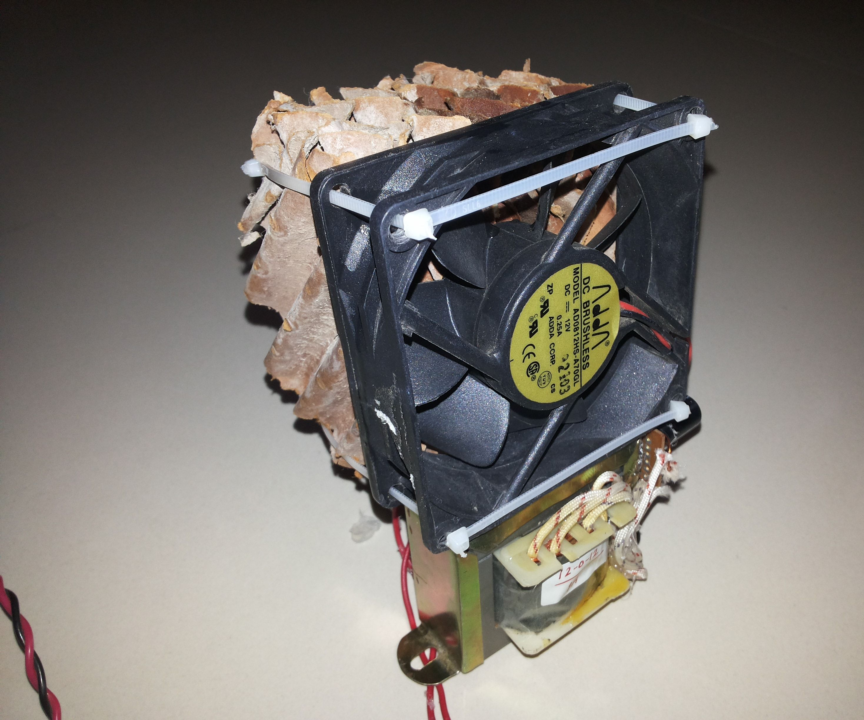 Mini Air Conditioner (A/C) from reused materials
