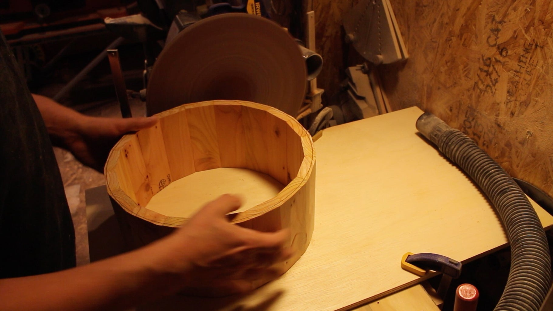 Sanding and Truing Up the Shell