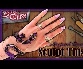Polymer Clay Serpent Bangle