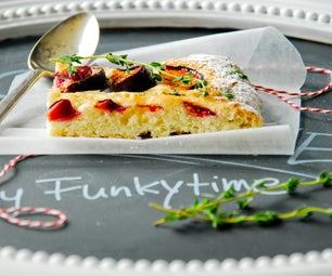 German Plum Cake With Thyme