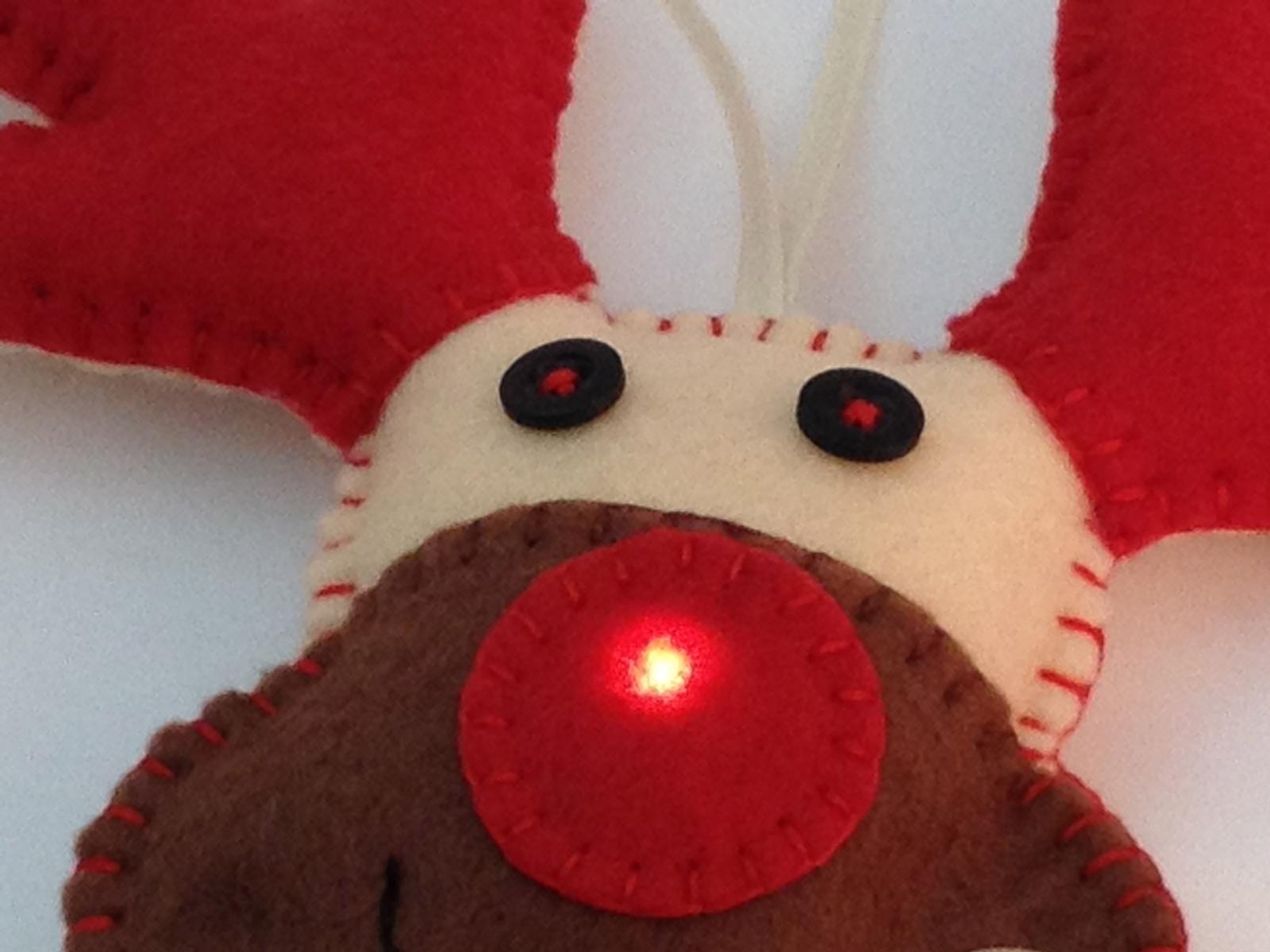E-Textile Rudolph Christmas Decoration