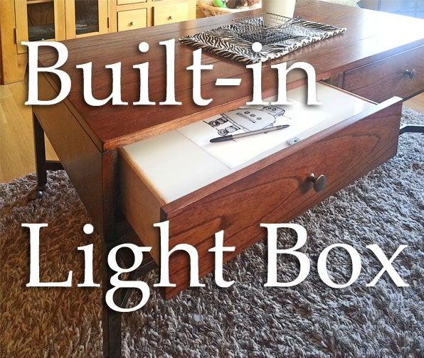 Built-in Wireless Light Box With Secret Storage.