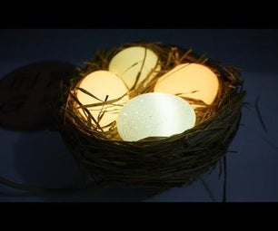 Eggshell to Make a Photosensitive Night Light