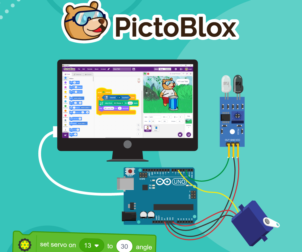 Interface Actuators With Arduino Using PictoBlox
