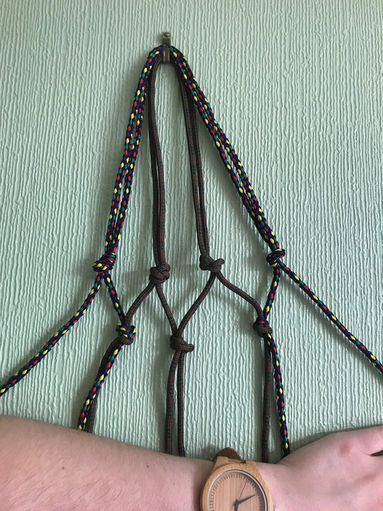 Macrame Hanger: Create the Second Level of Knots