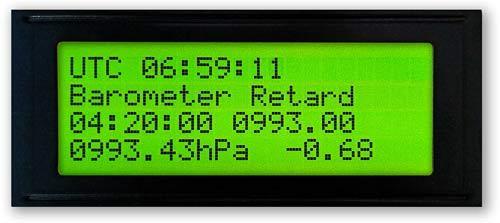 Initial Start-up Settings Main Barometer Hand
