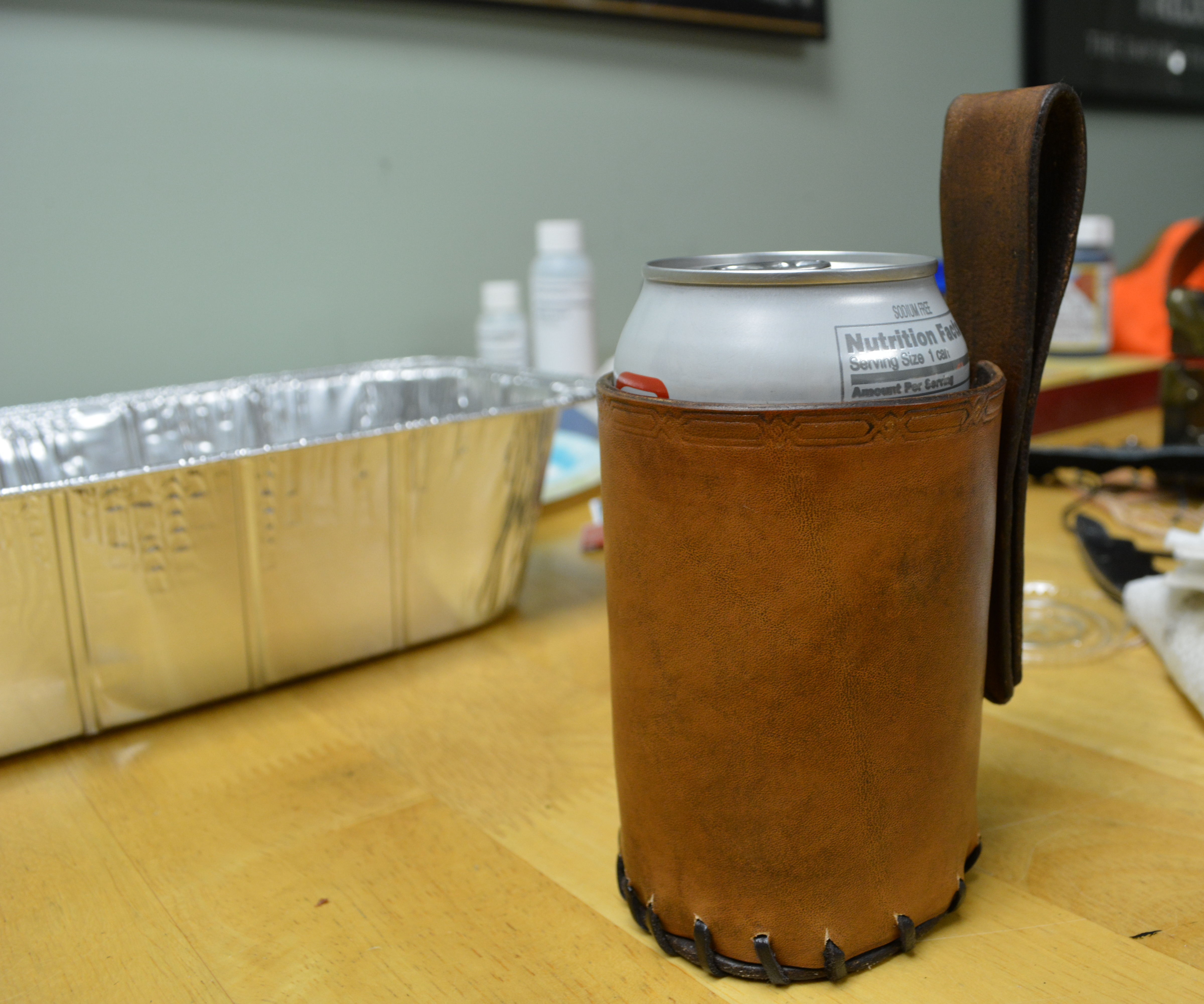 Leather Can/Bottle holster