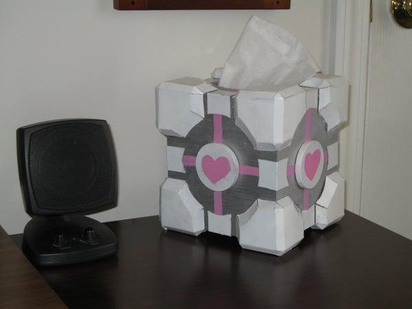 Companion Cube Tissue Box