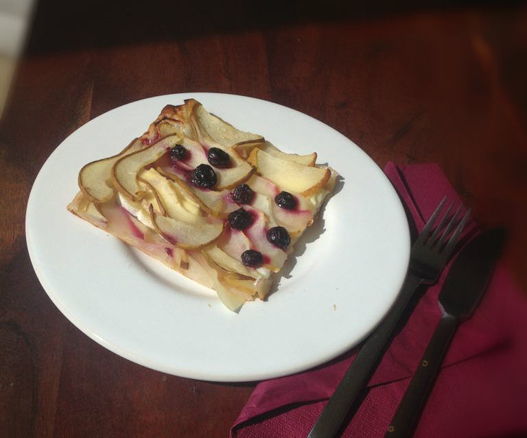 Pear Blueberry Brie Pie