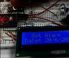 Arduino Based Digital Clock With Alarm Using 1602 LCD