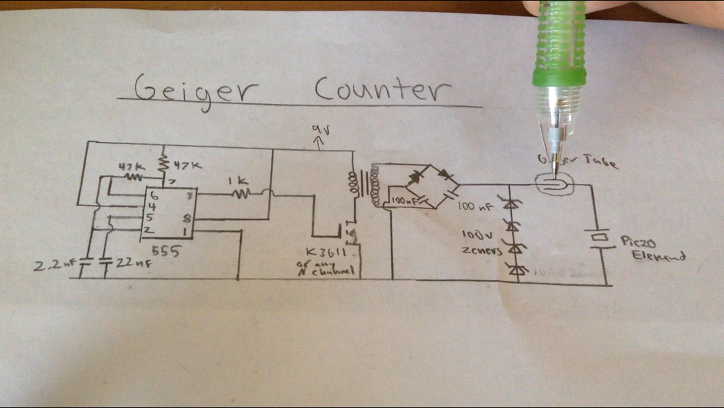 Simplest Geiger Counter : 7 Steps (with Pictures) - Instructables   Geiger Counter Wiring Diagram      Instructables
