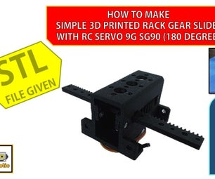 How to Make 3D Printed Rack Gear Slider With RC Servo 9G SG90
