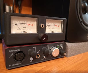 Retro Analog Audio VU Meter From Scratch!