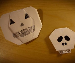 How to Make a Jack-O-Lantern Origami Style