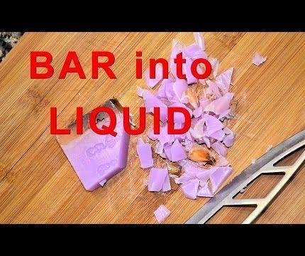 Bar Into Liquid: Homemade DIY Castile Soap Recipe