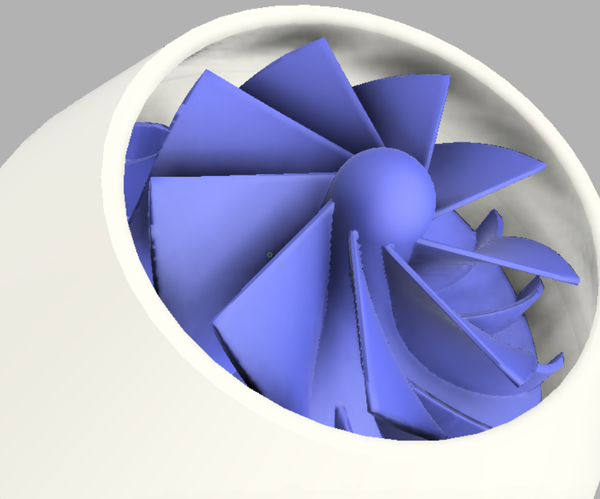 3D印刷喷气轮机v2