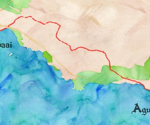 Animated Watercolour Map for Cycle Tour/Race Videos