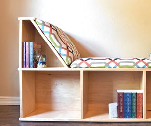 如何建立一个可怕的阅读角落与图书存储。