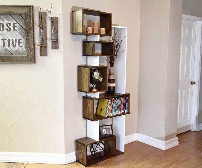 Offsetting DIY Bookshelf