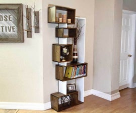 Offsetting DIY Bookshelf