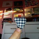 Mini Hand-sewed Heart Pillow