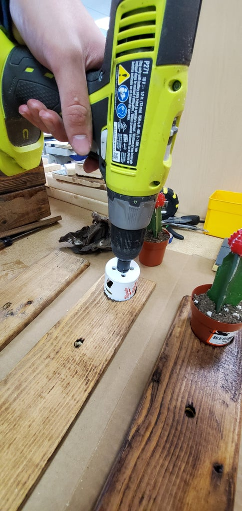Drilling Holes for the Plants