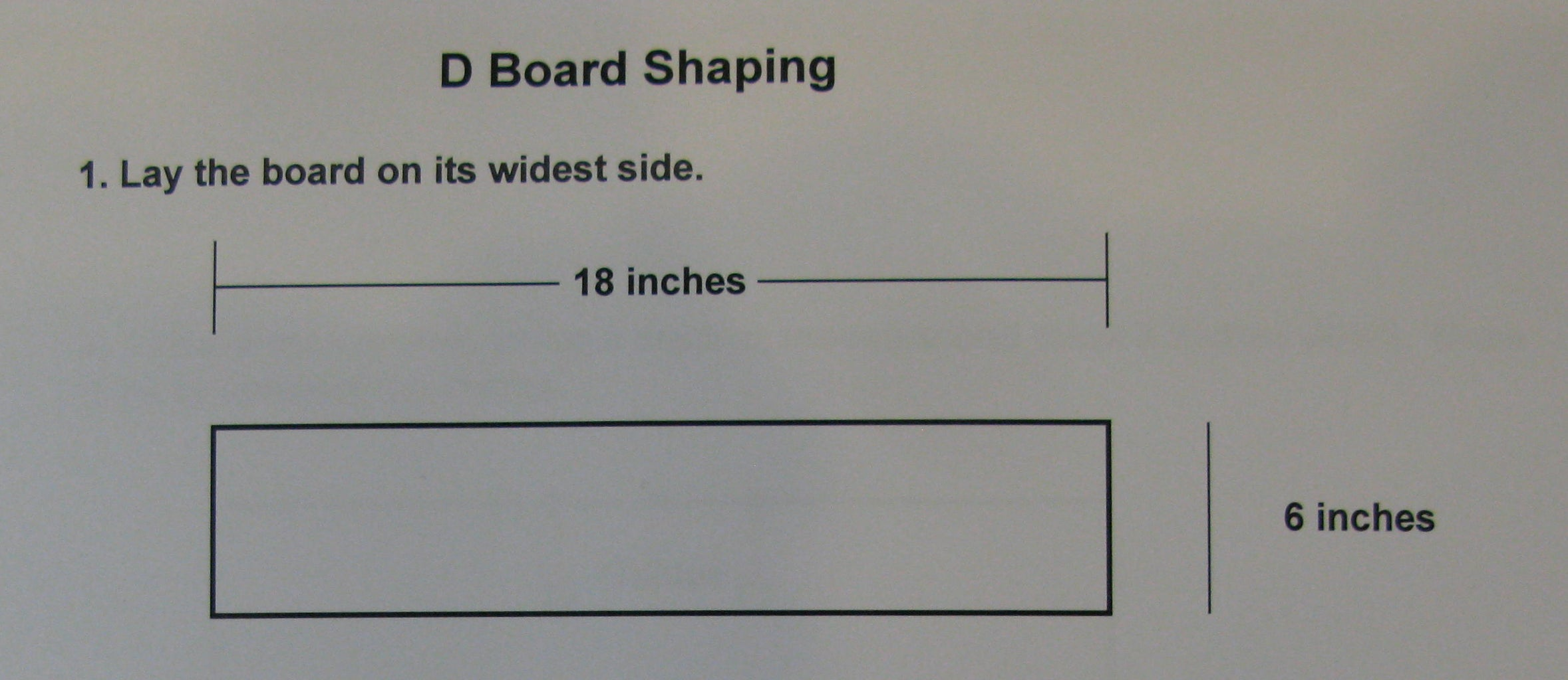 STEP SIX:  Shape the Maple Boards - D Boards