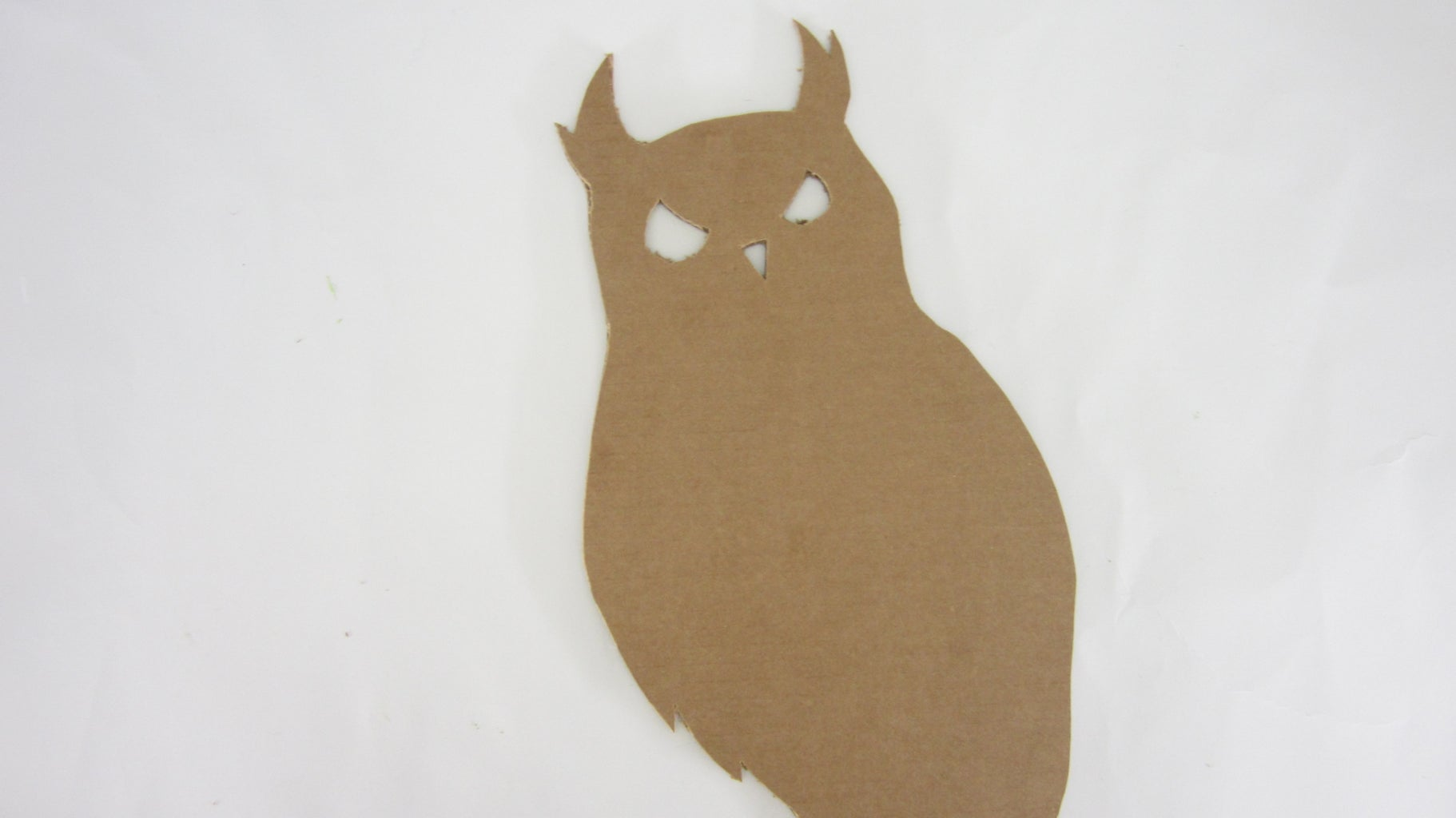 Cut Out the Shape From the Cardboard