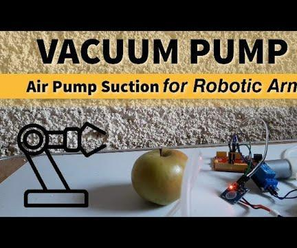 How to Control Vacuum Pump Air Pump Suction for Robotic Arm