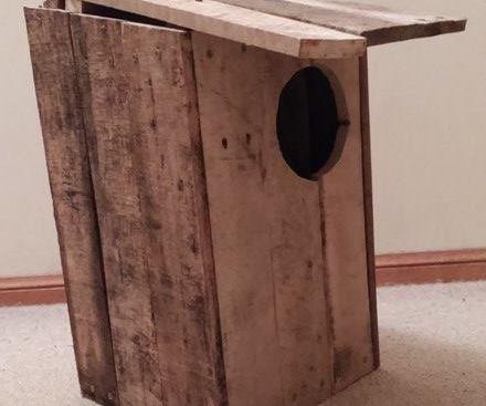 Reclaimed Pallet Wood Possum House
