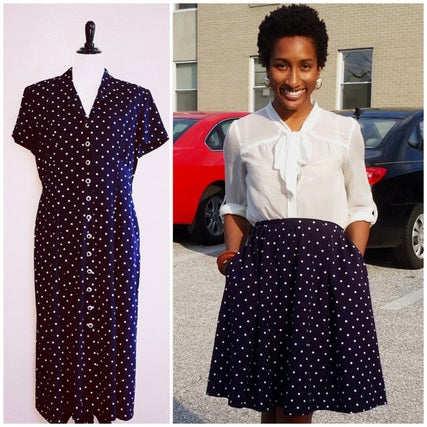 Upcycling a Thrifted Dress