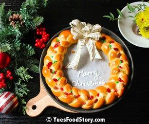 Mom's Bread Wreath for Christmas