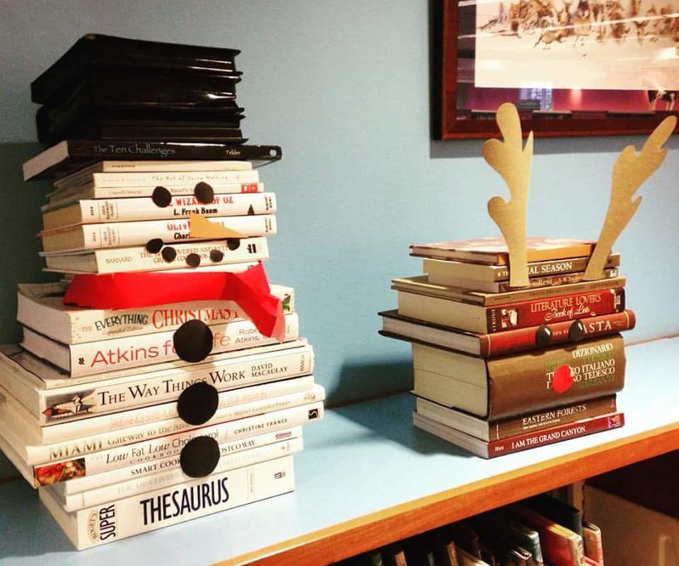 Snowman Book Sculpture