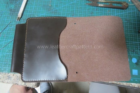 Fold the Passport Slot and Align the Edge of Main Body, Sew Them Together, You Can See the Pen Slot Is Finished Too.