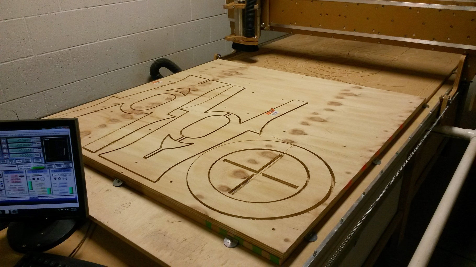 Set Up CNC Router and Begin Cutting