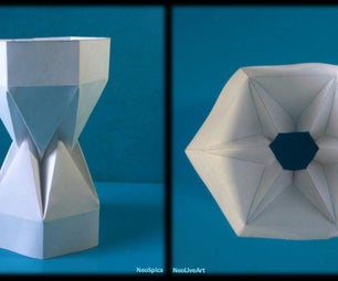 Tutorial 8 Paper Folding Hexagonal Column or Tower With Zig Zag Zipper Embedded