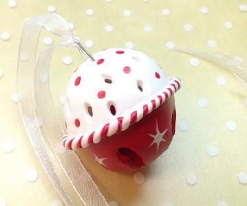 Christmas Sleigh Bell- Polymer clay (Fimo)