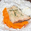 Dill-marinated Barbecue Salmon With Tzatziki