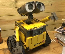 Wall-E Robot Arduino EasyVR3 (Updated) New Video With Voice Commands..Funny!)