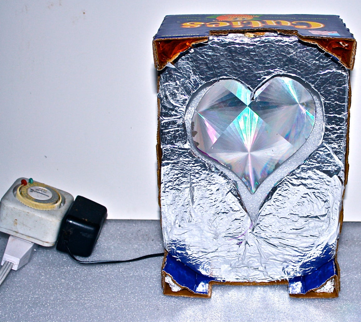 A Bright Glowing Heart Floating in a Box for a Cutie
