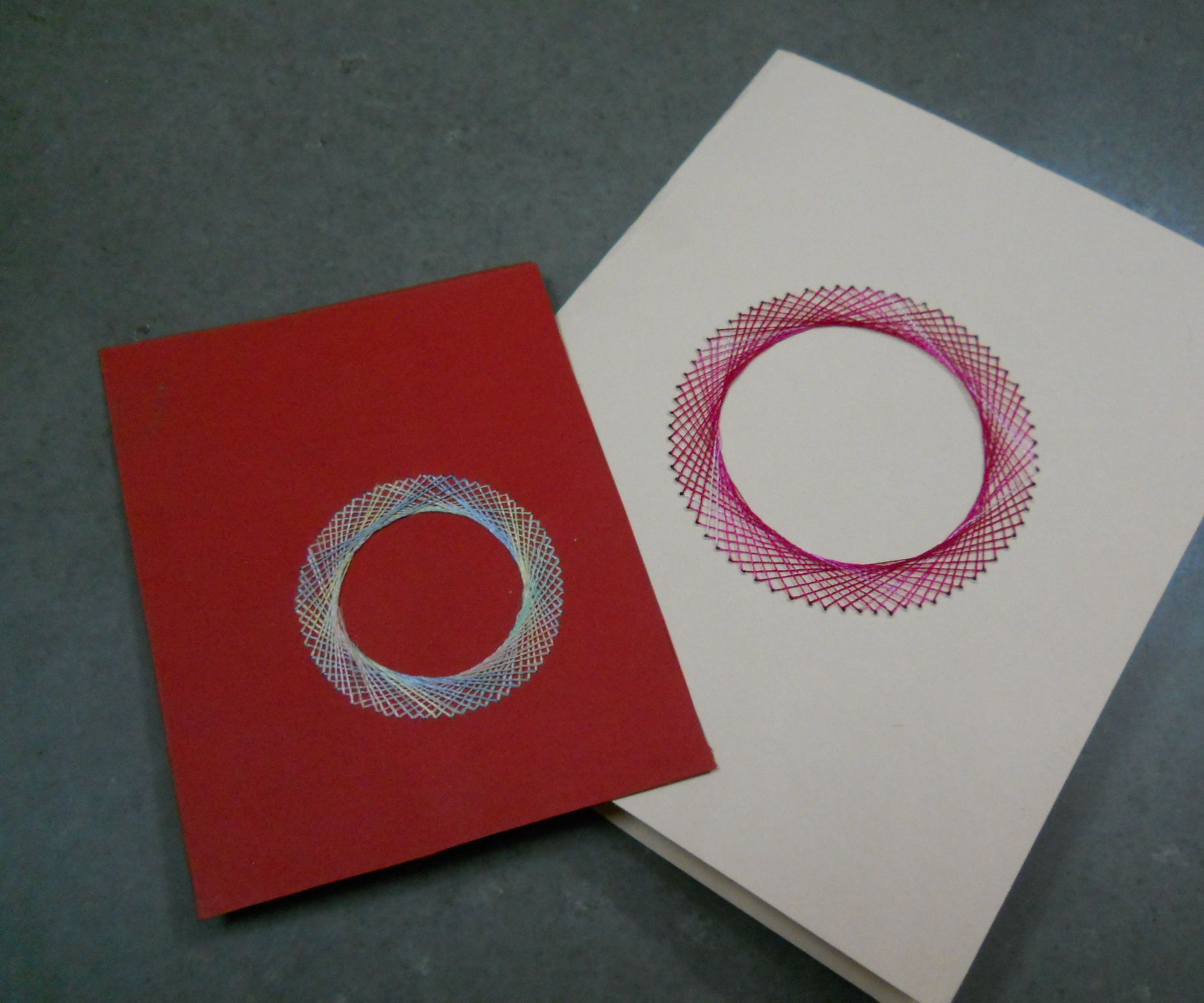 Silk Thread Design Card