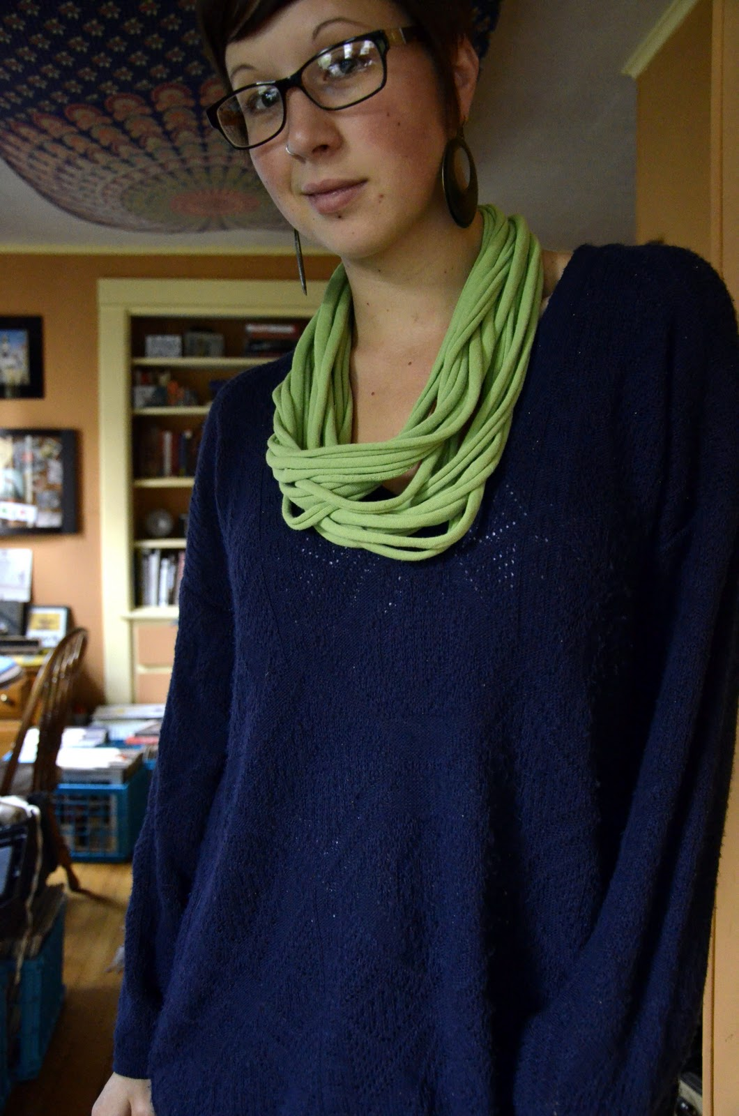 No Sew T-shirt Infinity Scarf Tutorial