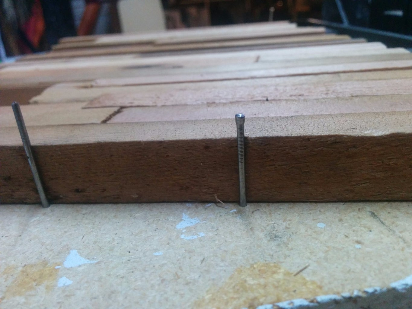 Cut Strips of Wood And...