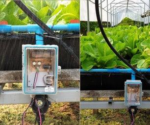 在现场电池中,使用DIY PCB操作闩锁阀水灌溉定时器控制器