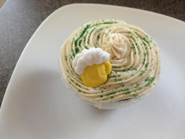 Guinness Cupcake With Bailey's Irish Cream Frosting